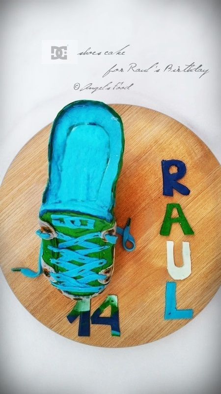 Angel's food: Dc shoes cake for Raul's Birthday~Tort adidas DC p...