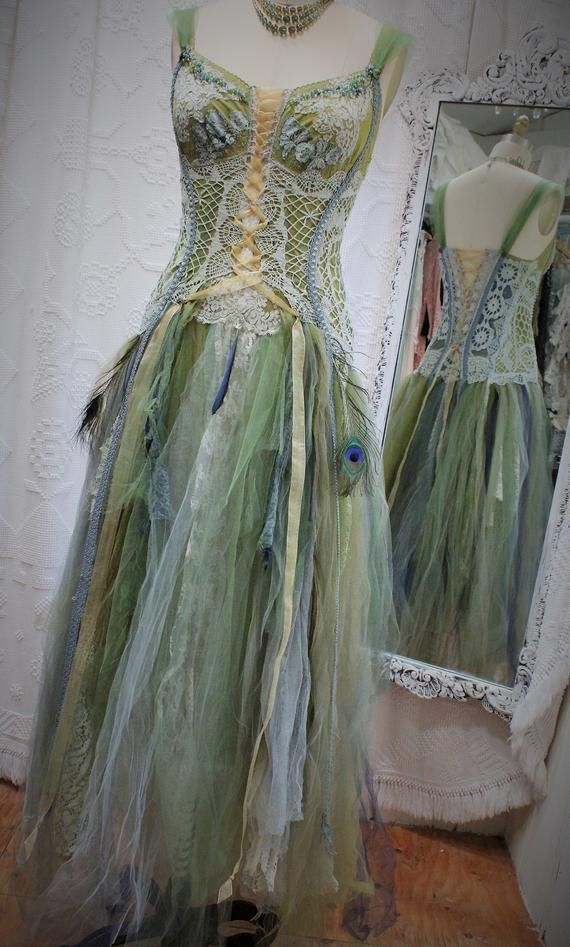 6340c2c17e332 Woodland Fantasy Wedding Dress, Fairy Wedding Dress, Fantasy Wedding Dress,  Elven, Couture detailing,Eco, One of a Kind by SweetSavageLove