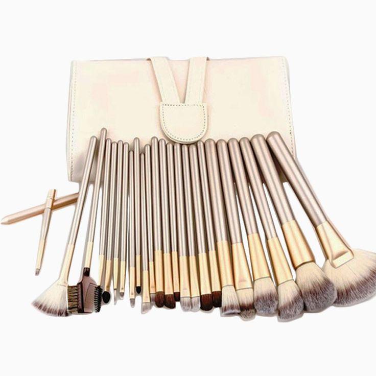 Hohe Qualität Professionelle Powder Foundation Pinsel 24 stücke Make-Up Pinsel Set Kosmetische Echte Bilden Werkzeuge erröten pinsel mit Tasche