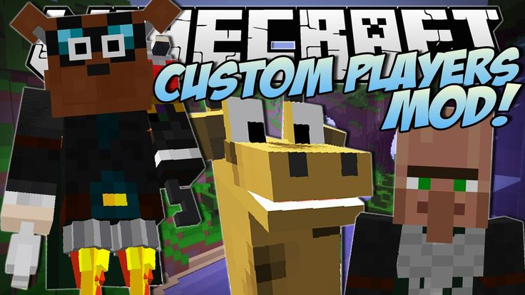 Minecraft | CUSTOM PLAYERS MOD (New Heads, Arms, Bodies and More! WearMC...