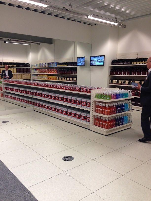 Voorbeeld van supermarktverlichting, bij ETAP