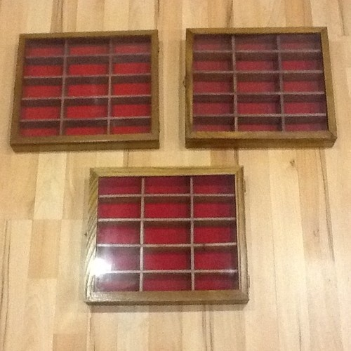 Wooden Display Case For Die Cast Model Cars Or Small