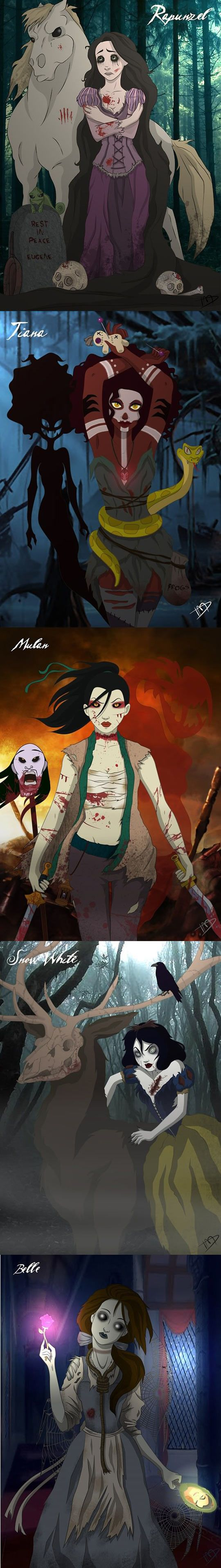 Scary Zombie Disney Princesses // funny pictures - funny photos - funny images - funny pics - funny quotes - #lol #humor #funnypictures