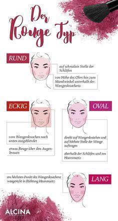 Der Rouge-Auftrag ist bei jedem anders. Wir zeigen euch, je nach Gesichtstyp, wo ihr das Blush auftragen könnt. :) Welche Gesichtsform passt zu eurer?