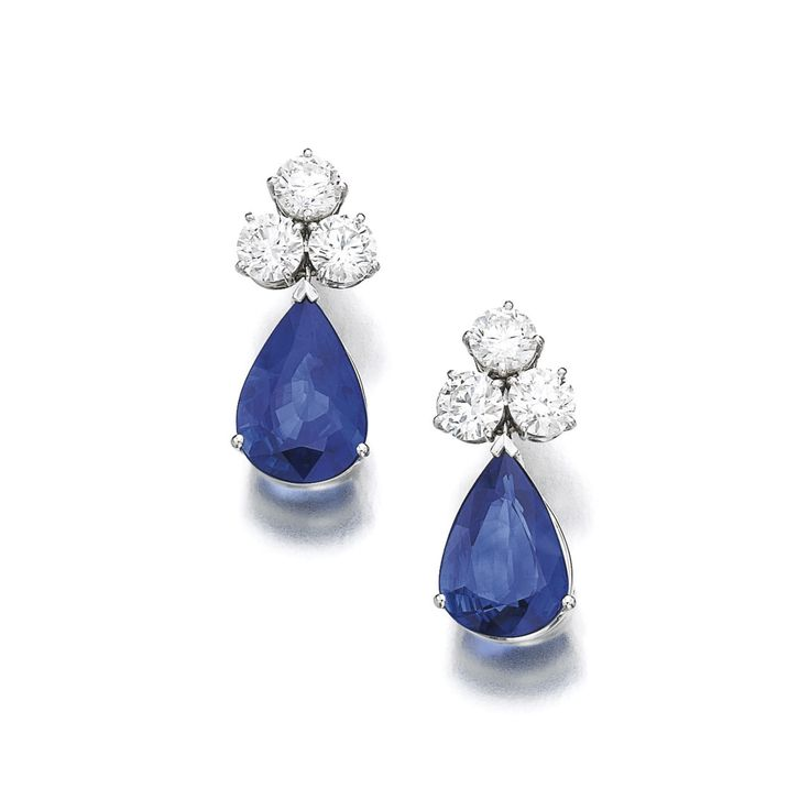 25 best ideas about Sapphire And Diamond Earrings on Pinterest
