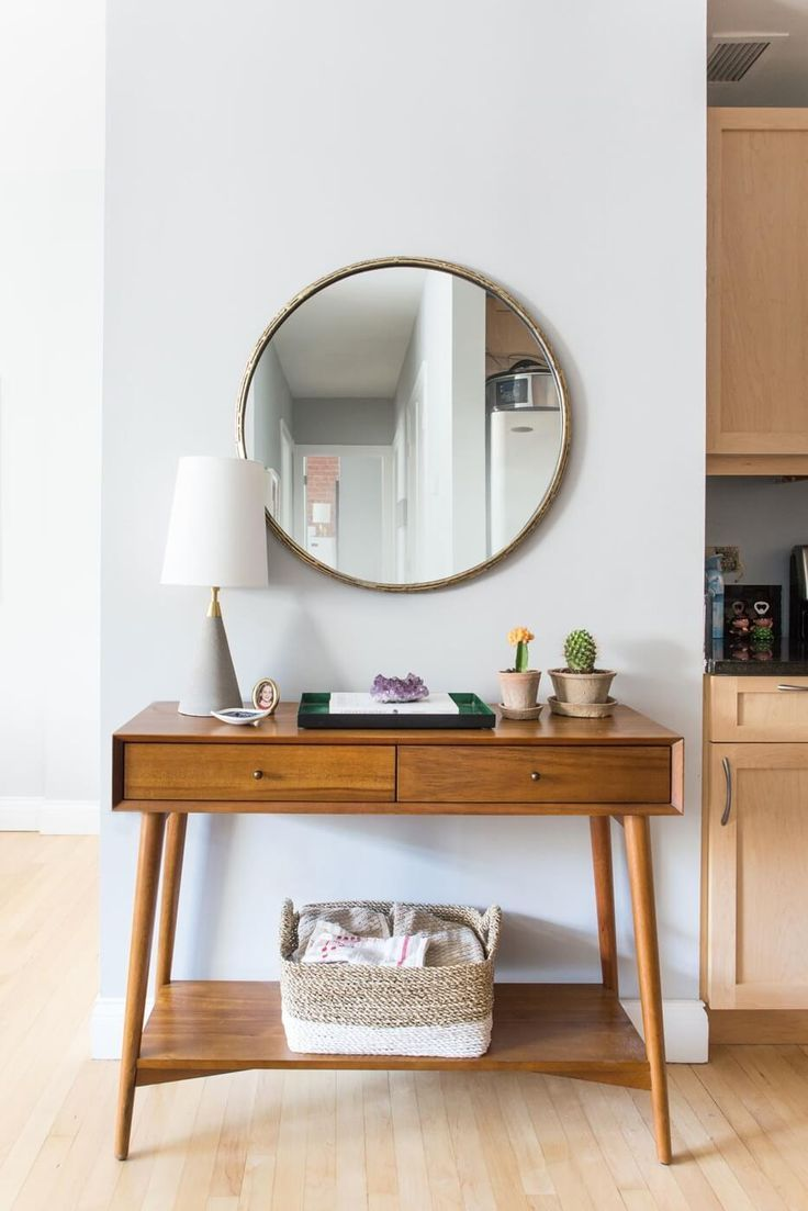 Spotted: The mid-century console from west elm | Interior Design Ideas Brooklyn Luna Grey Park Slope