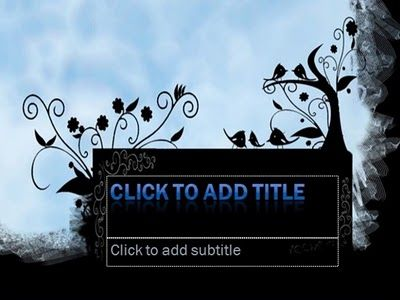 Nature template version 2, full nature concept with 2 different background, more black,special background for title slide, bird and floral vector art, default and standard font, custom title text with wordart style, easy to use.