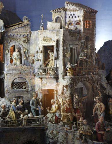 Via San Gregorio Armeno, Street of Nativity Workshops in Naples, Italy
