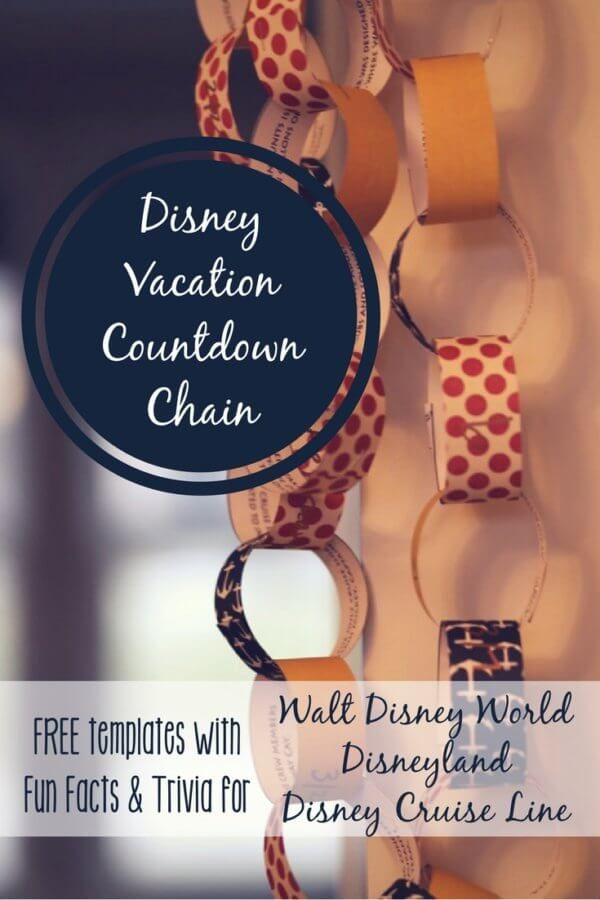 Free Printable Disney Countdown Chains