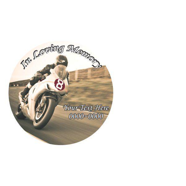 Street Bike Moto In Loving Memory Full Color Star Shape Custom - Custom vinyl decals for bikes