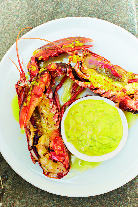 Smoked lobster with saffron and basil mayonnaise recipe by professional chef Nathan Outlaw