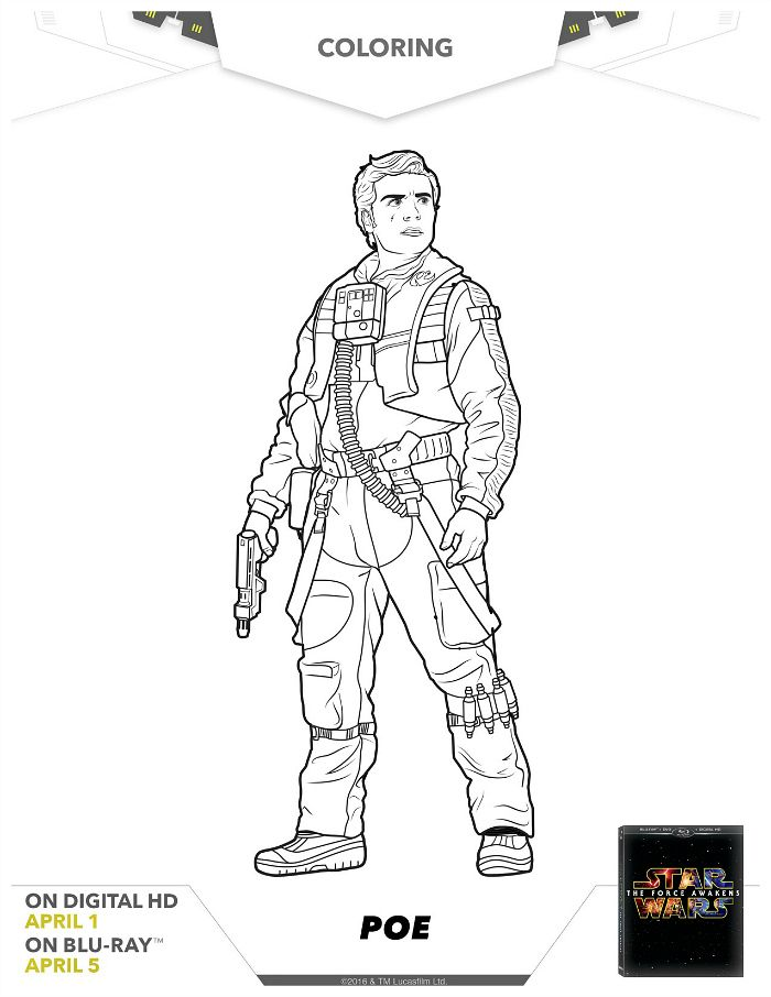 Star Wars Poe Coloring Page Language Tools Coloring Pages