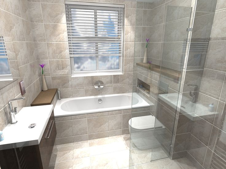 Fully Tiled Main Bathroom Design With Contemporary Shower In Hunton, Kent  Www.balinea.