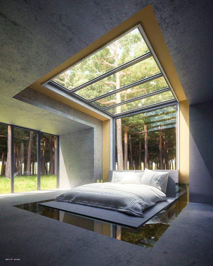 Bedroom Skylight Idea Room Full Of Stars By Amin Moazzen In 2021 Interior Architecture Design Master Bedroom Design House Architecture Design