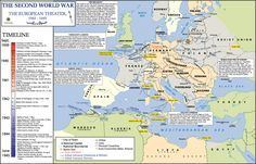 world war 2 timeline | The biggest ground war in human history took place in Europe from ...