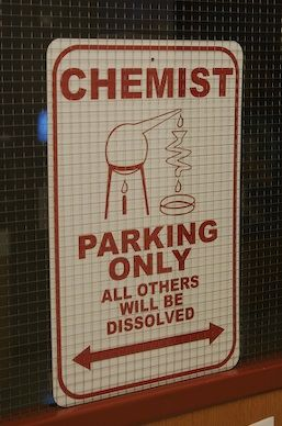 Parking sign for chemists