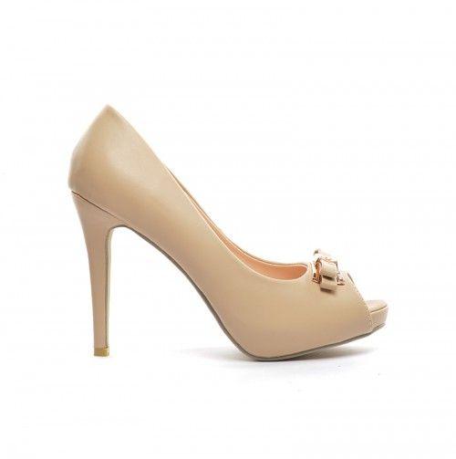 Pantofi Babel Bej -  Piele eco  Colectia Incaltaminte de la  www.cadoupentruea.ro