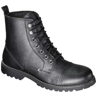 Men's Mossimo Supply Co. Espen Lace-up Boots - Black Miki found ...