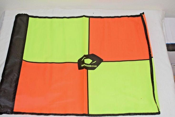 SoccerOne TeamRef Official Gear Deluxe Swivel Soccer Flags Plastic Storage Case #TeamRef