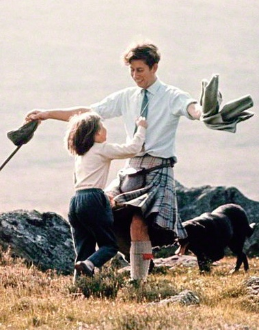 This has always been my favourite picture of Prince Charles.  Taken in August 1972 it shows him lovingly greeting his cousin Sarah Armstrong.  Taken by Patrick Lichfield.