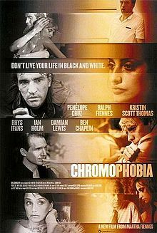 Chromophobia is an ensemble film which debuted at the 2005 Cannes Film Festival in France. The film's crew was made up of a brother-sister trio - Martha Fiennes wrote and directed the film, Ralph Fiennes starred in it, and Magnus Fiennes composed the score.