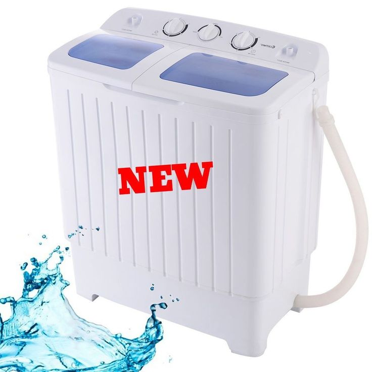 Portable Washing Machine Mini Compact Twin Tub Washer Spin Dryer Cleaner Cloth 5