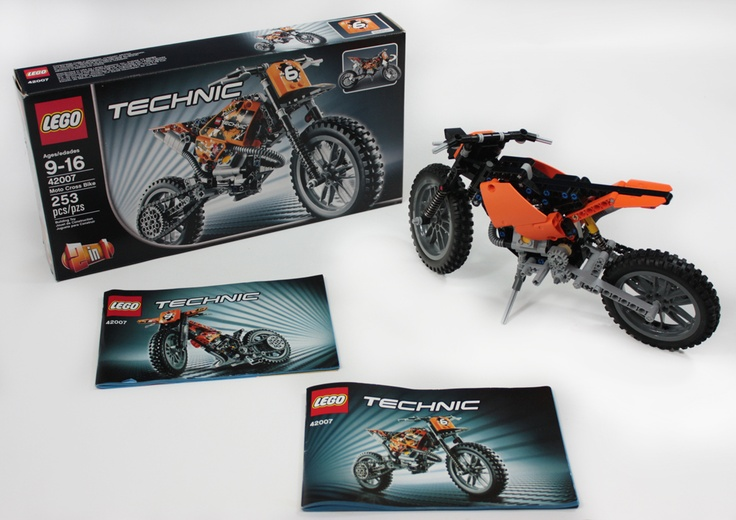 the lego moto cross bike is a new lego set number 42007. Black Bedroom Furniture Sets. Home Design Ideas