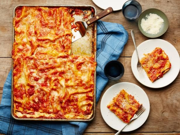 Get Food Network Kitchen's All-Crust Sheet-Pan Lasagna Recipe from Food Network
