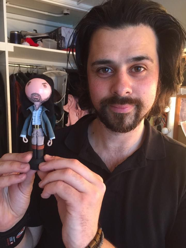 the 30th anniversary Cast of Les  Miserables London with their FaBi DaBi Dolls - commissioned by Adam Bayjou as gifts for his fellow cast