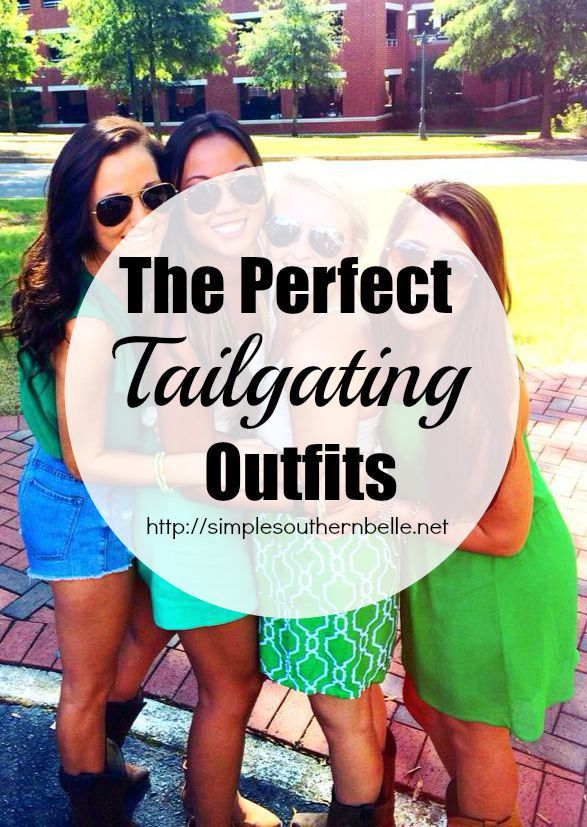The Perfect Tailgating Outfits. From sporty to casual and even southern belle, I have the perfect look for you! http://simplesouthernbelle.net