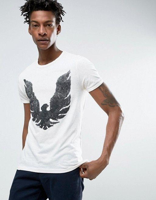 BOSS Orange | BOSS Orange by Hugo Boss Slub Eagle T-Shirt Regular Fit in White