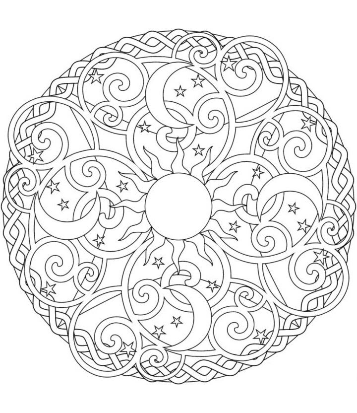 art therapy - Art Therapy Coloring Pages Mandala