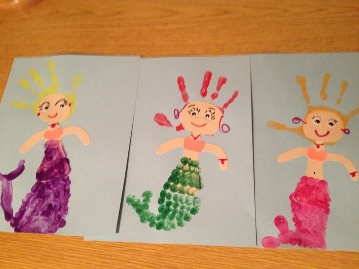 Handprint mermaids!