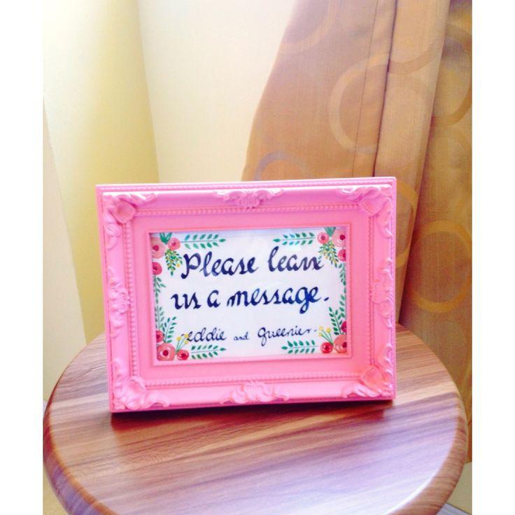 Wedding decor/signage in watercolor