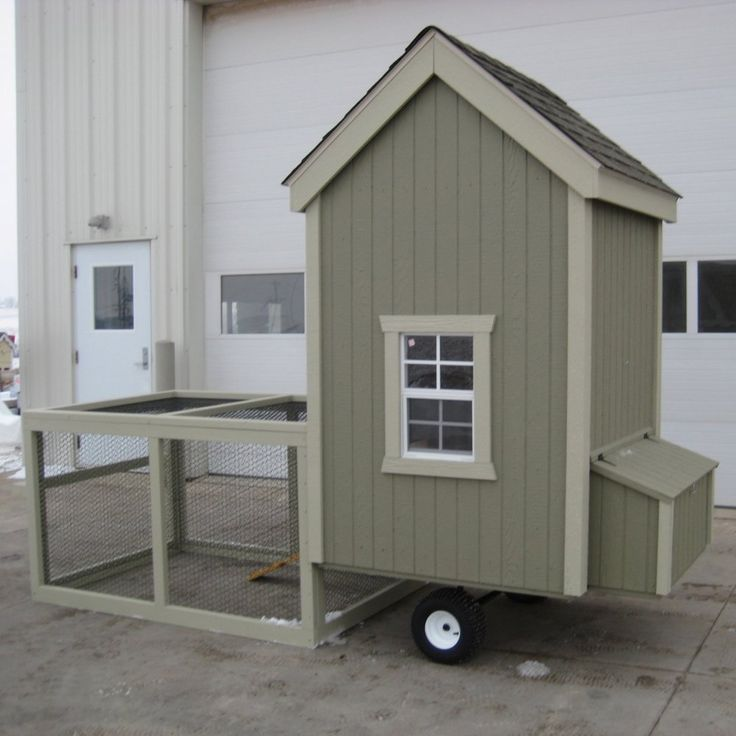Little Cottage Colonial Gable Run Chicken Coop - 4L x 4W ft. -   Provide…