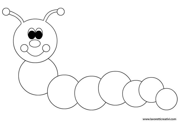 Risultati immagini per bruco da colorare per bambini for Immagini da colorare bruco