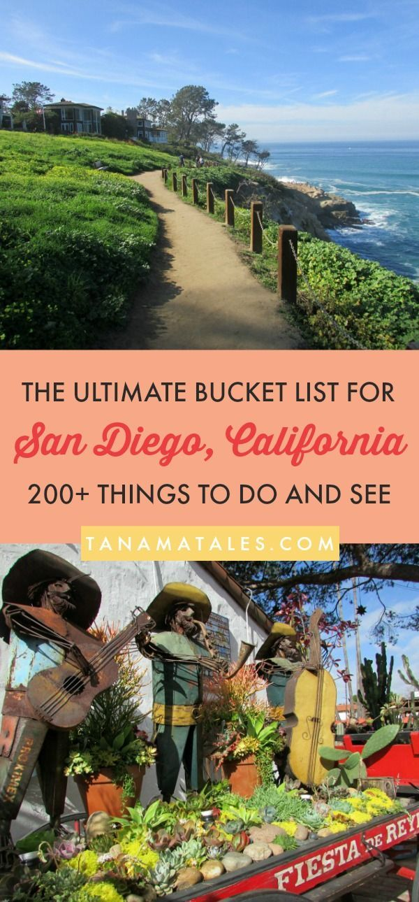 200+ Things to see, do and eat in San Diego, #California – Travel and Vacation Tips / Ideas – Here is my ultimate bucket list for San Diego. These are my top choices for attractions, restaurants, beaches, viewpoints, food, getaways and much more! From Old Town to the zoo, here are my recommendations to enjoy with your significant other, family and kids! #SanDiego #OldTown #LittleItaly #BalboaPark #GaslampDistrict #LaJolla