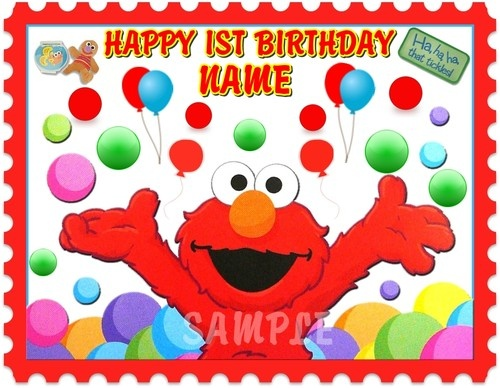 Elmo Birthday Sheet Cakes