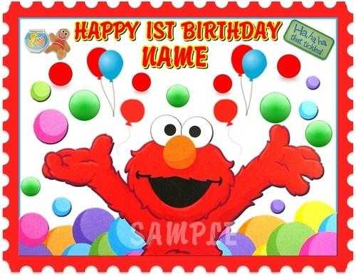 Elmo Birthday Cake Edible Image : ELMO FOR 1ST OR ANY AGE BIRTHDAY EDIBLE CAKE TOPPER IMAGE ...
