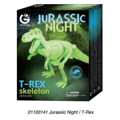 Wild Creations Jurassic Night T-Rex Skeleton