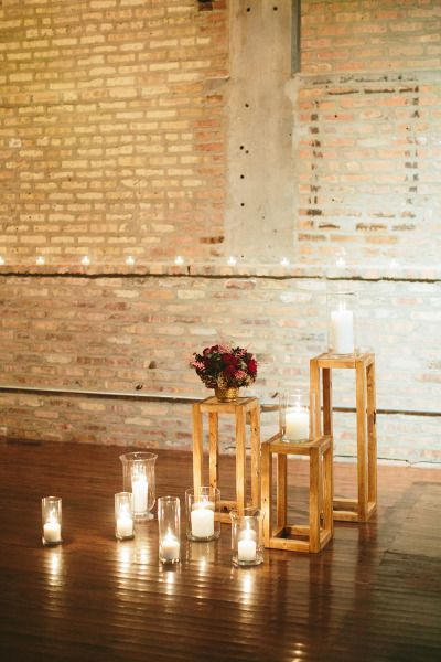 Candlelit indoor Chicago wedding: http://www.stylemepretty.com/2014/06/12/candlelit-indoor-chicago-wedding/ | Photography: http://stofferphotography.com/blog/