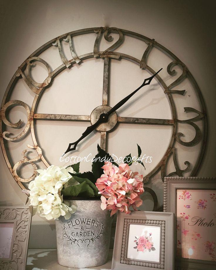 Large 80 x 80cm metal clock  https://m.facebook.com/CottonCandyDG/