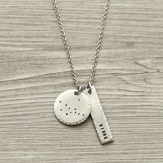 Virgo Virgo Necklace Virgo Jewelry Constellation by ClairAshley