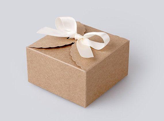 20 cajas mini en kraft para macaron francés por fromsoul en Etsy