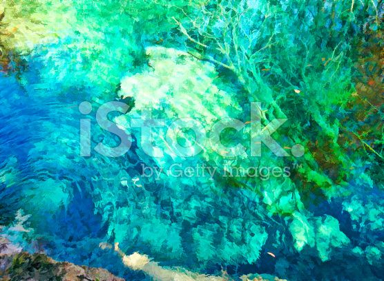 Jiuzhaigou Scenic с Живопись действия – роялти-фри стоковая фотография