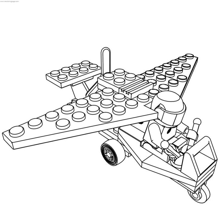 Lego Ultralight Airplane Coloring Page See the category to
