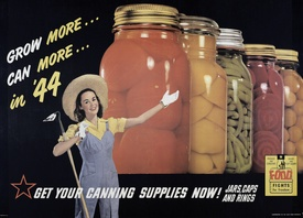 Grow more... can more... in '44National Archives, Food Rational, Gardens Display, Victory Gardens, Wars Food, Beautiful Gardens, Food Programs, Growing More Cans, Canning Canning
