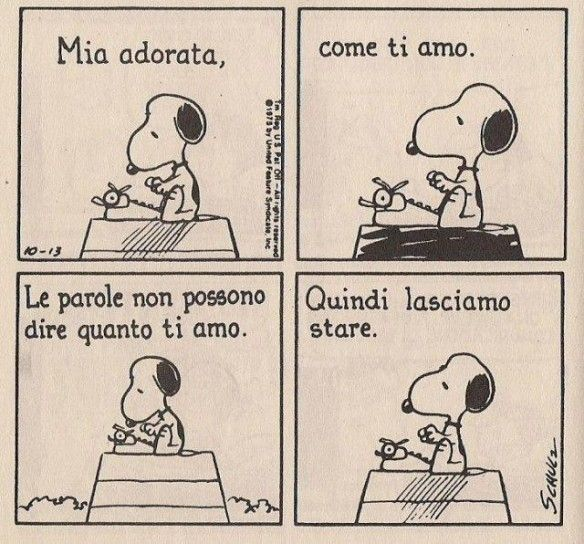 Snoopy in love.