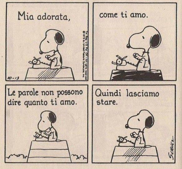 Snoopy e l'amore