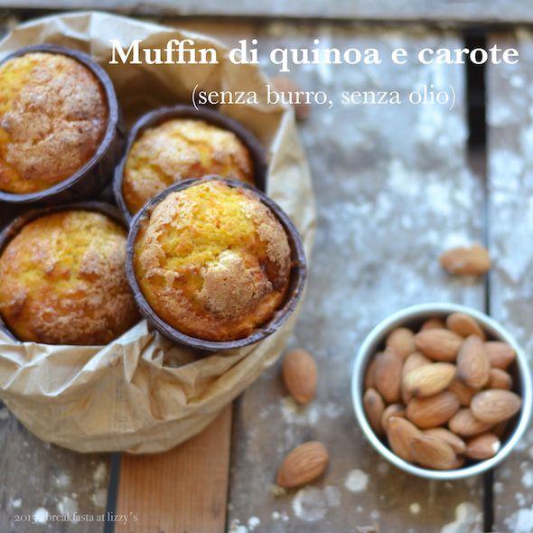"""I muffin di quinoa e carote (senza burro, senza olio) sono una pratica e sana merenda per chi non vuole """"arrendersi"""" alle merendine industriali."""
